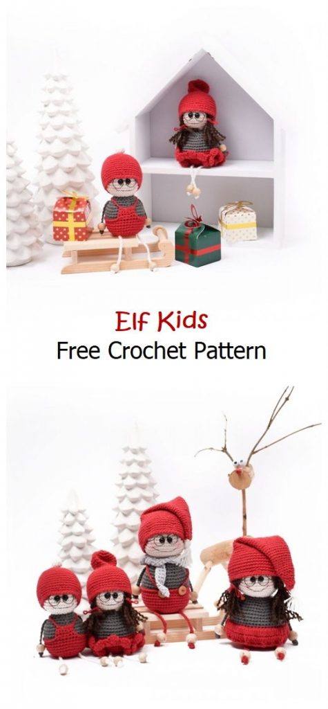 Elf Kids Free Amigurumi Pattern