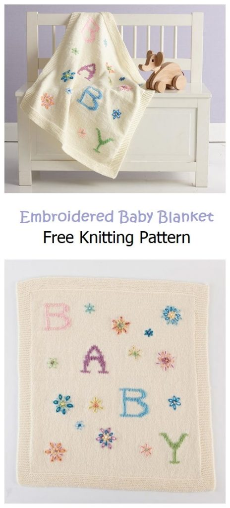 Embroidered Baby Blanket Free Pattern