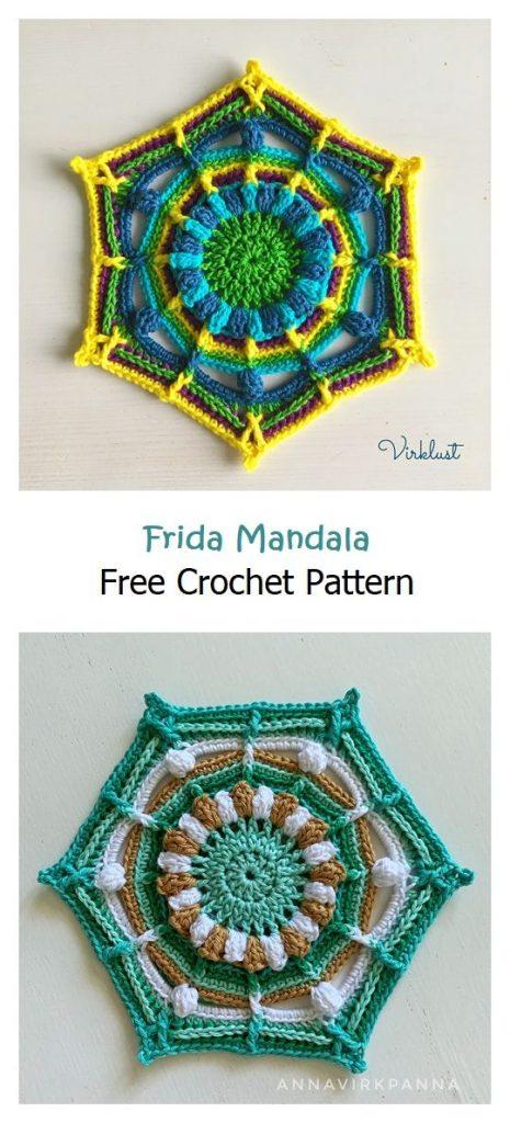 Frida Mandala Free Crochet Pattern