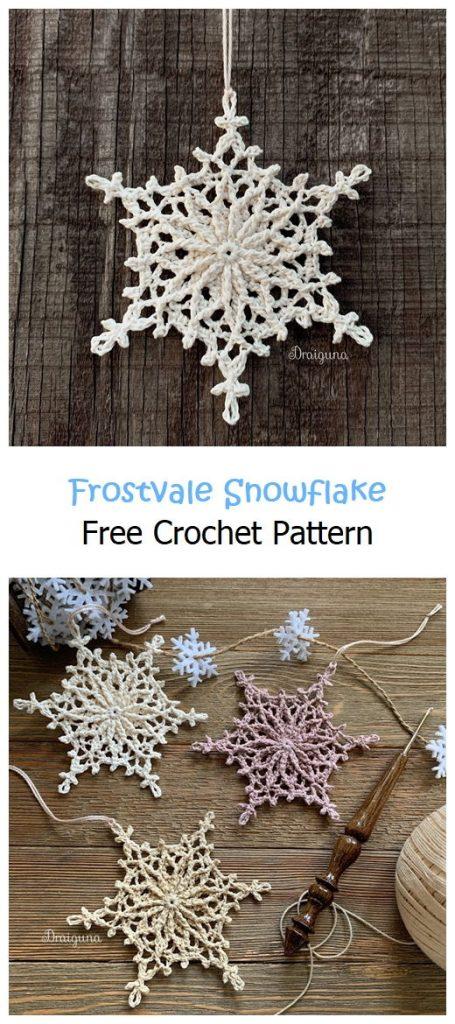 Frostvale Snowflake Free Crochet Pattern