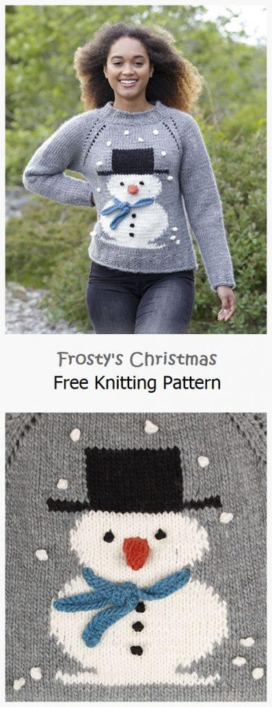 Frosty's Christmas Free Knitting Pattern