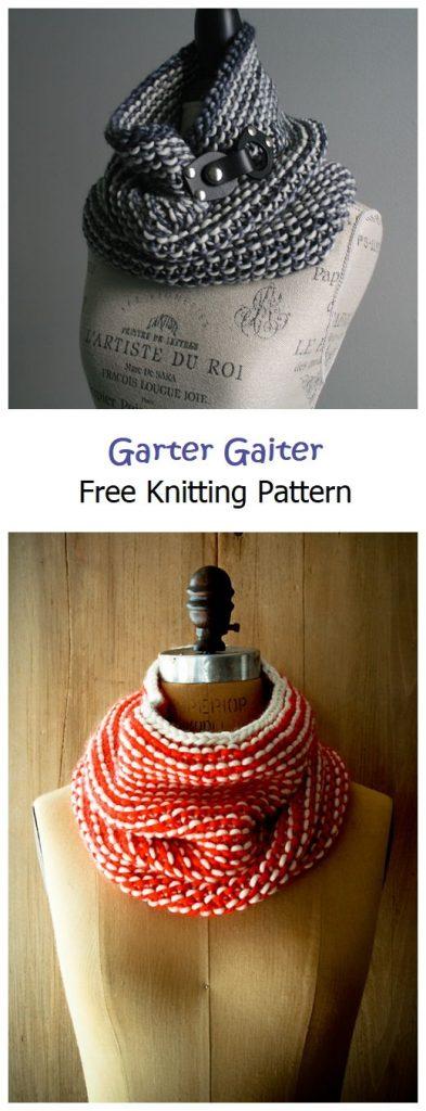 Garter Gaiter Cowl Free Knitting Pattern