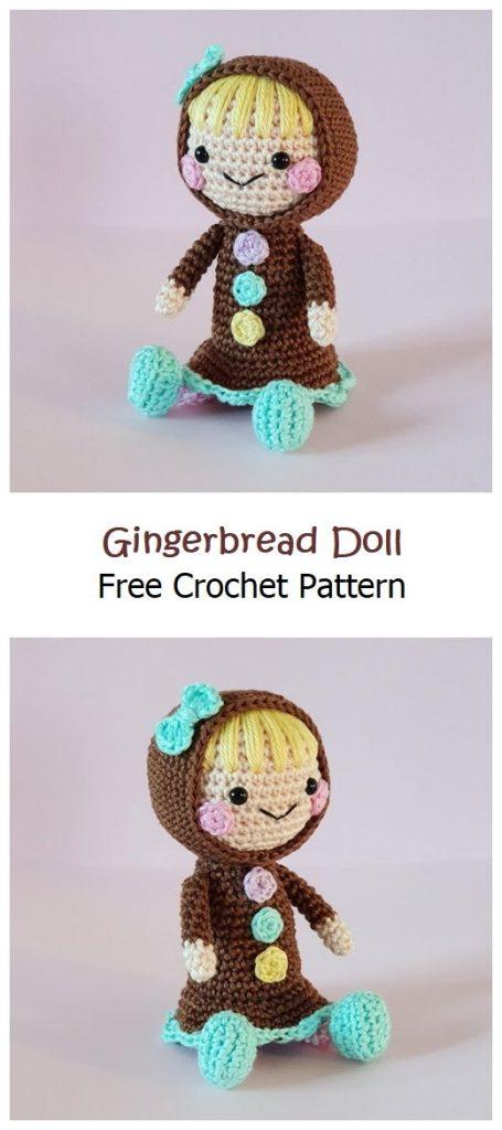 Gingerbread Doll Free Crochet Pattern