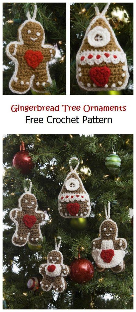 Gingerbread Tree Ornaments Free Pattern
