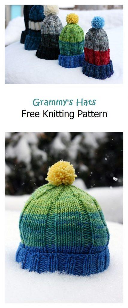 Grammy's Hat Free Knitting Pattern