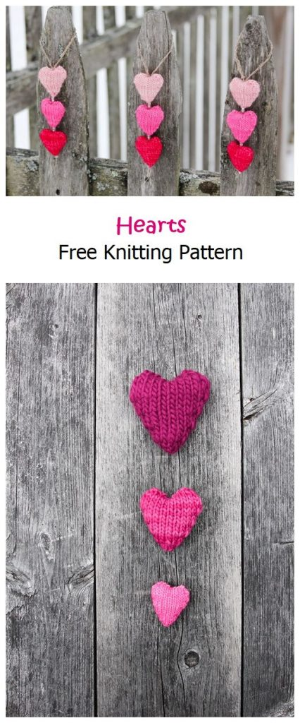 Knit Hearts Free Pattern