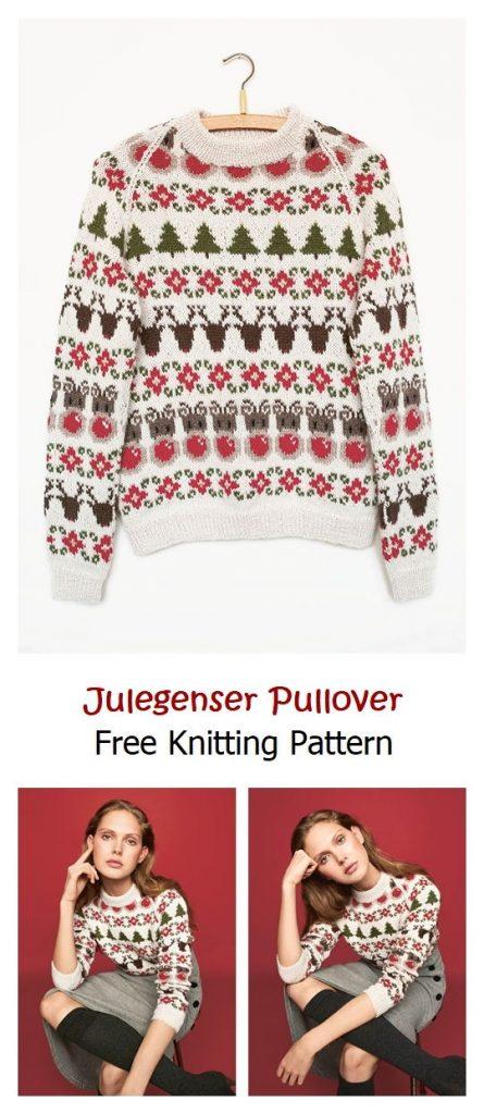 Julegenser Pullover Free Knitting Pattern
