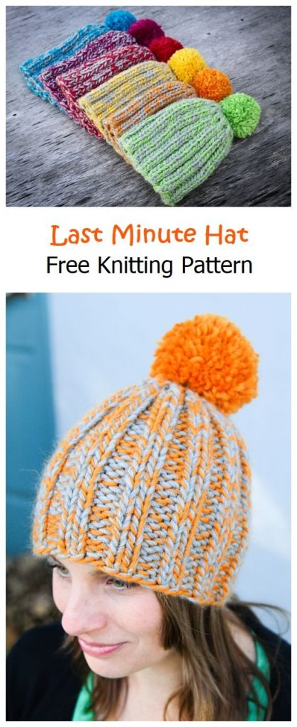 Last Minute Hat Free Knitting Pattern