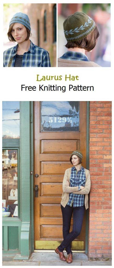 Laurus Hat Free Knitting Pattern