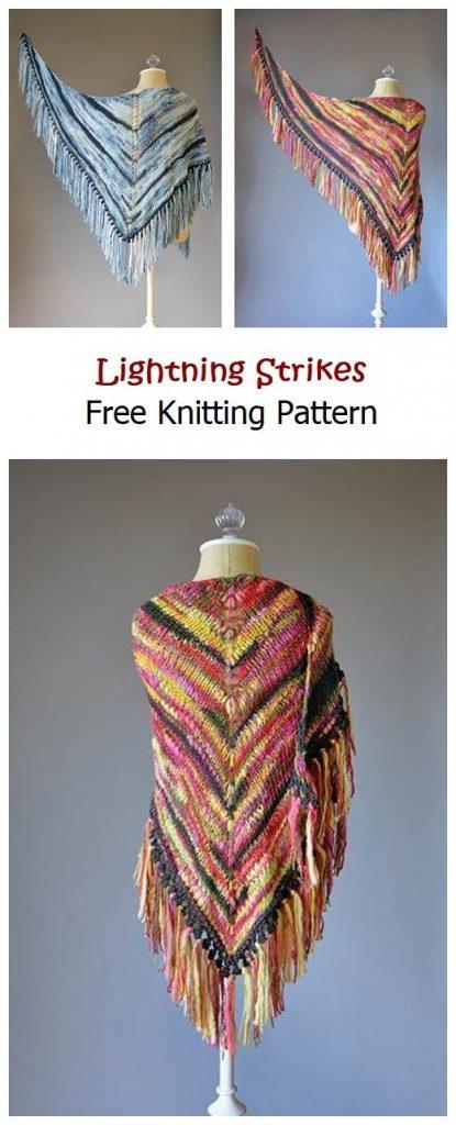 Lightning Strikes Free Knitting Pattern