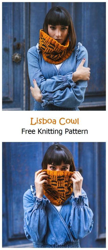 Lisboa Cowl Free Knitting Pattern