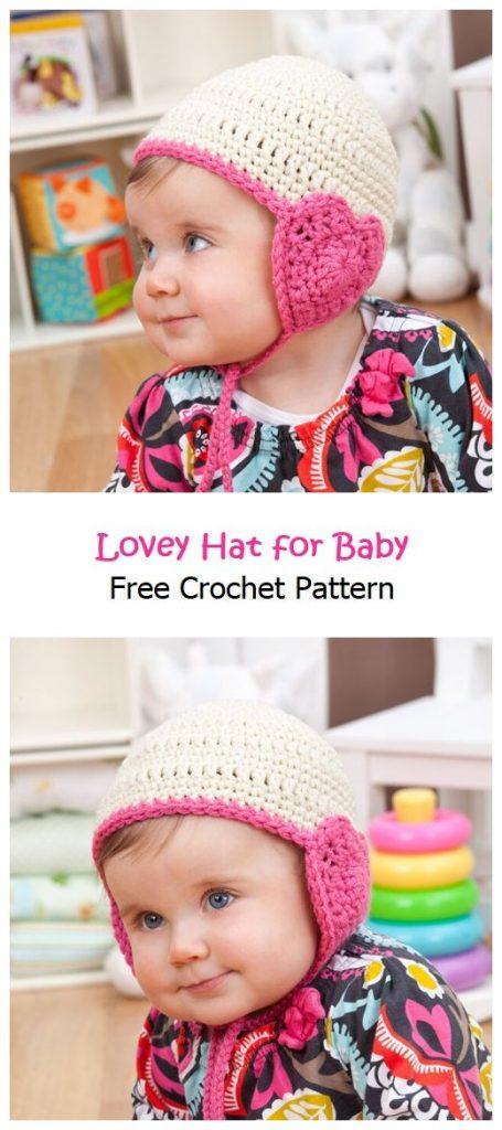 Lovey Hat for Baby Free Crochet Pattern