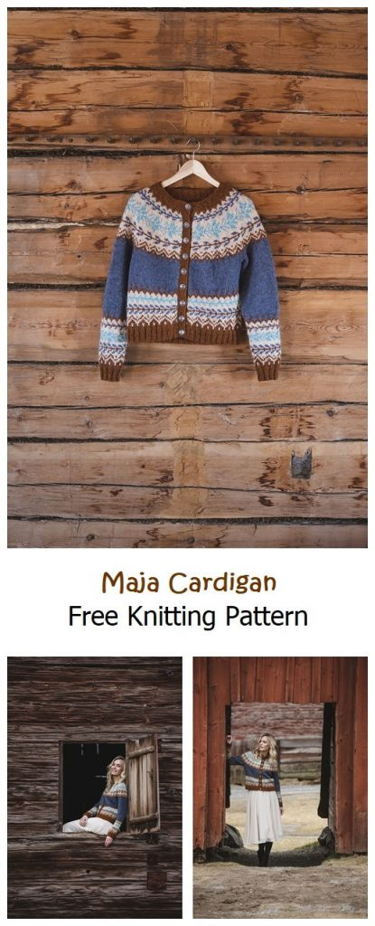 Maja Cardigan Free Knitting Pattern