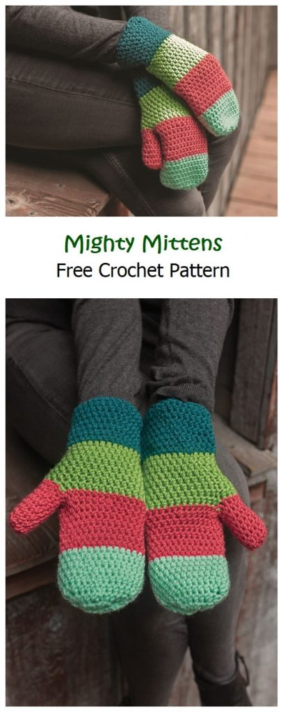 Mighty Mittens Free Crochet Pattern