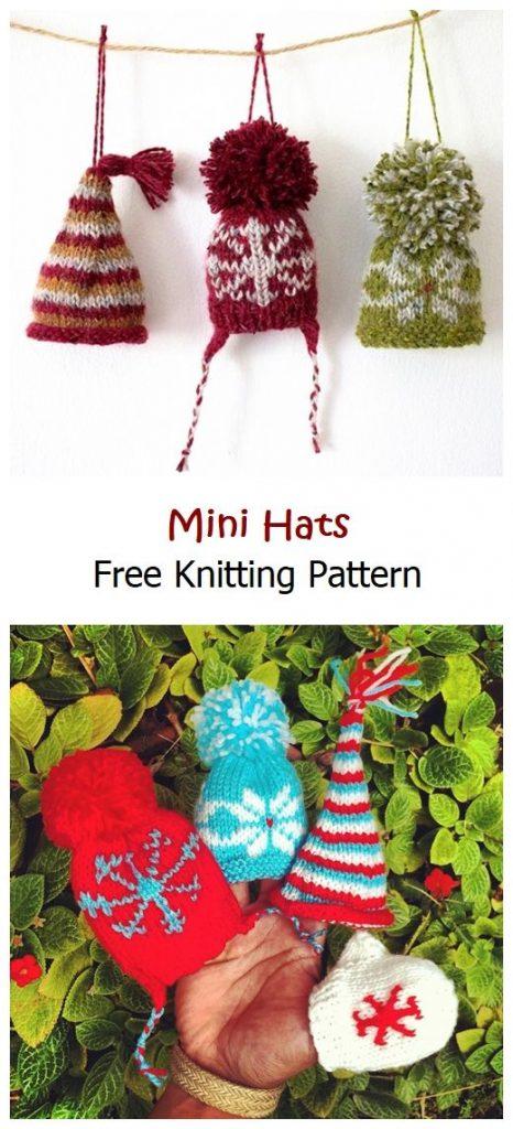 Mini Hats Free Knitting Pattern