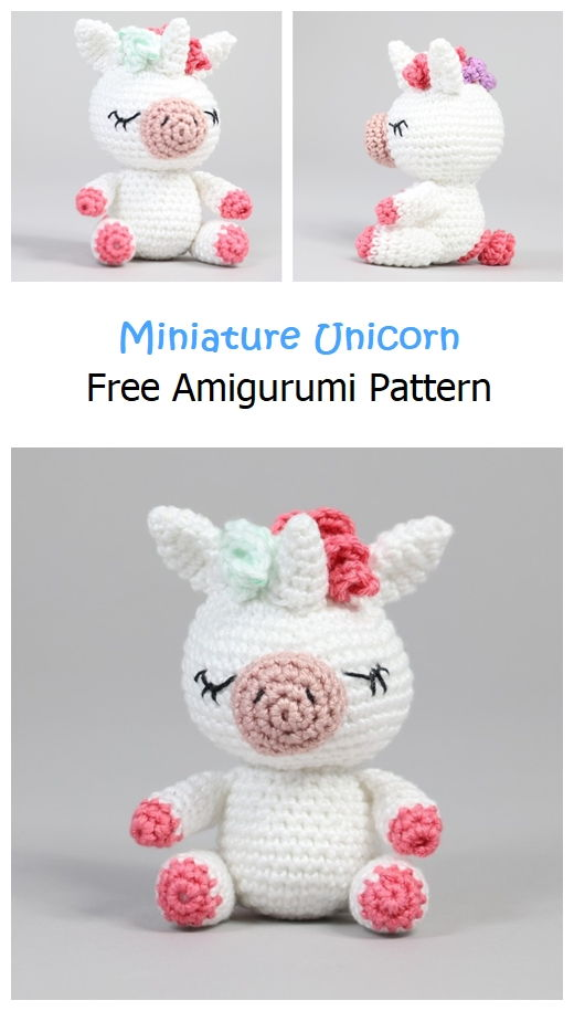 Miniature Unicorn Free Amigurumi Pattern