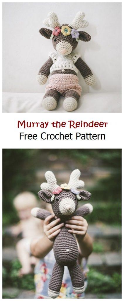 Murray the Reindeer Free Crochet Pattern