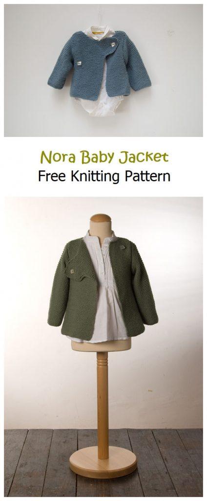 Nora Baby Jacket Free Knitting Pattern