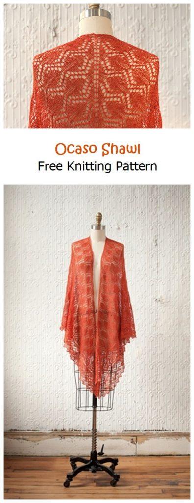 Ocaso Shawl Free Knitting Pattern
