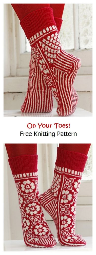 On Your Toes! Free Knitting Pattern