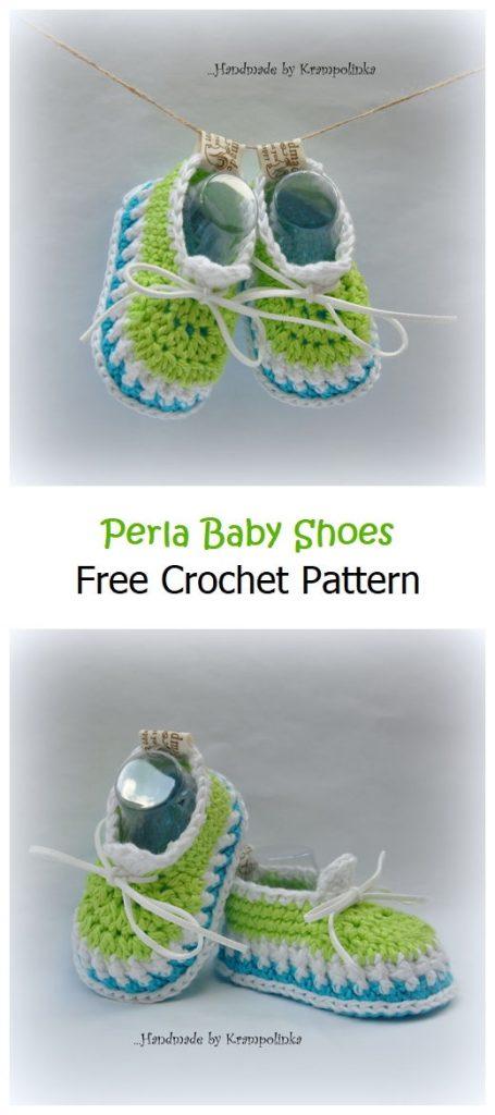 Perla Baby Shoes Free Crochet Pattern