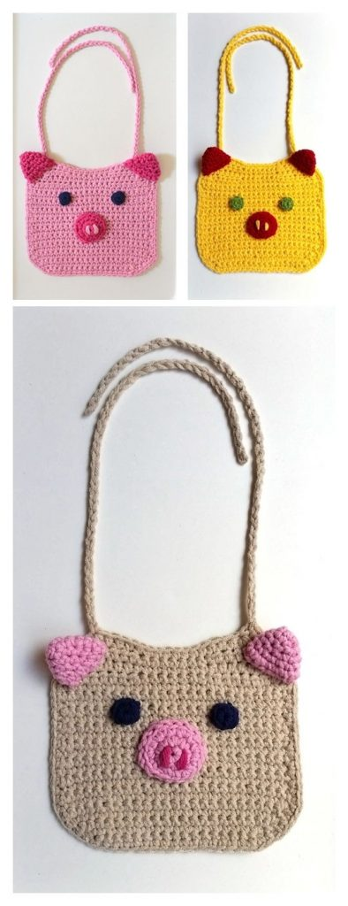 Piglet Bib Free Crochet Pattern