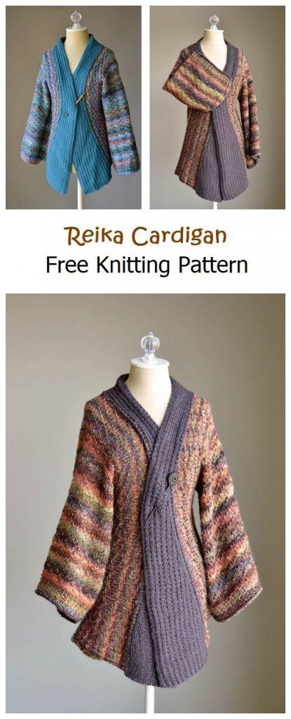 Reika Cardigan Free Knitting Pattern