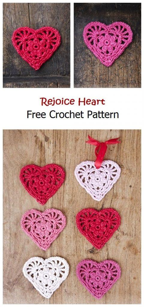 Rejoice Heart Free Crochet Pattern