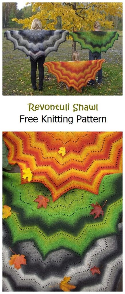 Revontuli Shawl Free Knitting Pattern
