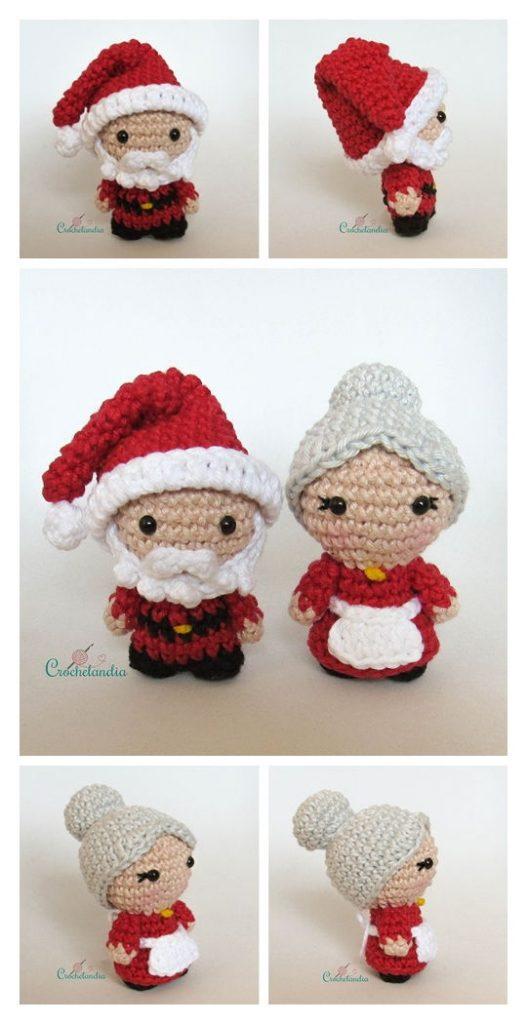Santa and Mrs Claus Free Amigurumi Pattern