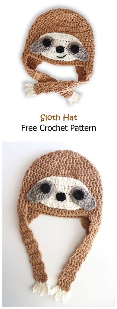 Sloth Hat Free Crochet Pattern