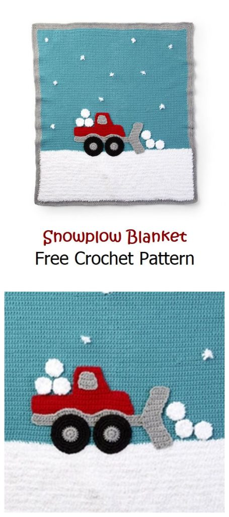 Snowplow Blanket Free Crochet Pattern