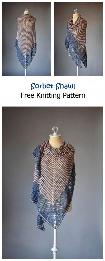 Sorbet Shawl Free Knitting Pattern