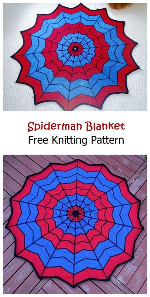 Spiderman Blanket Free Knitting Pattern - Knitting Projects
