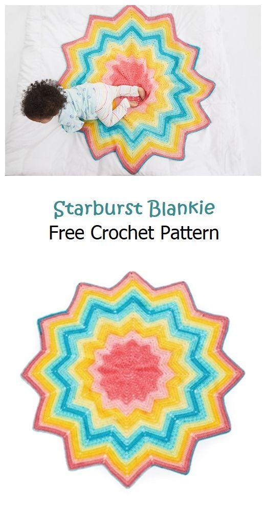 Starburst Blankie Free Crochet Pattern