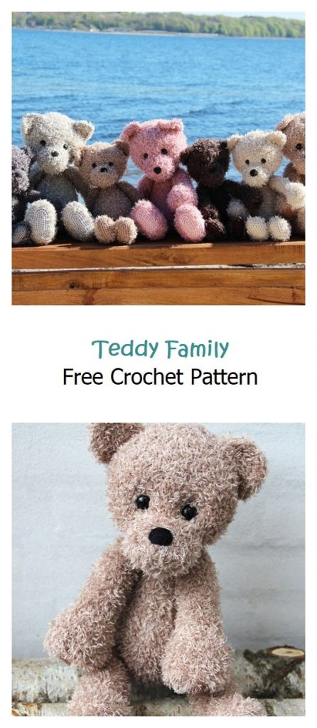 Teddy Family Free Amigurumi Pattern