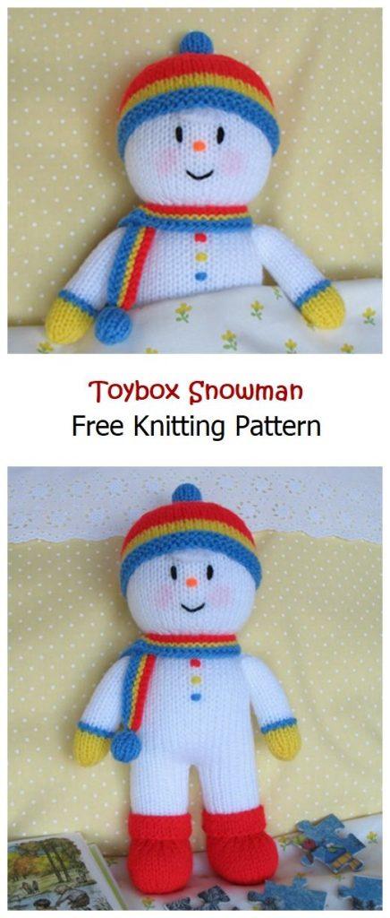 Toybox Snowman Free Knitting Pattern
