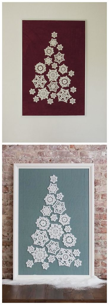 Tree of Snowflakes Free Crochet Pattern