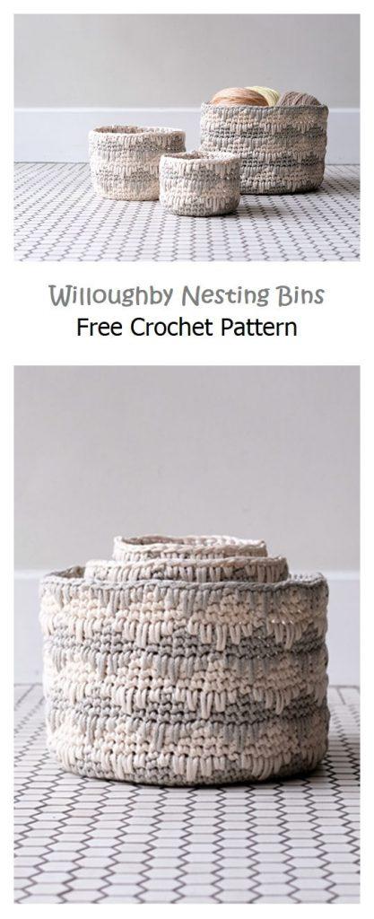 Willoughby Nesting Bins Free Crochet Pattern