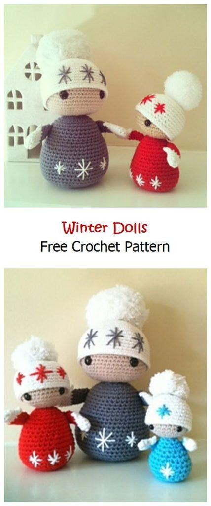Winter Dolls Free Amigurumi Pattern