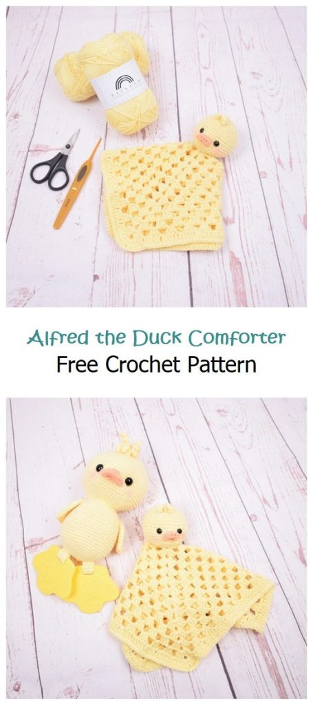 Alfred the Duck Comforter Free Crochet Pattern