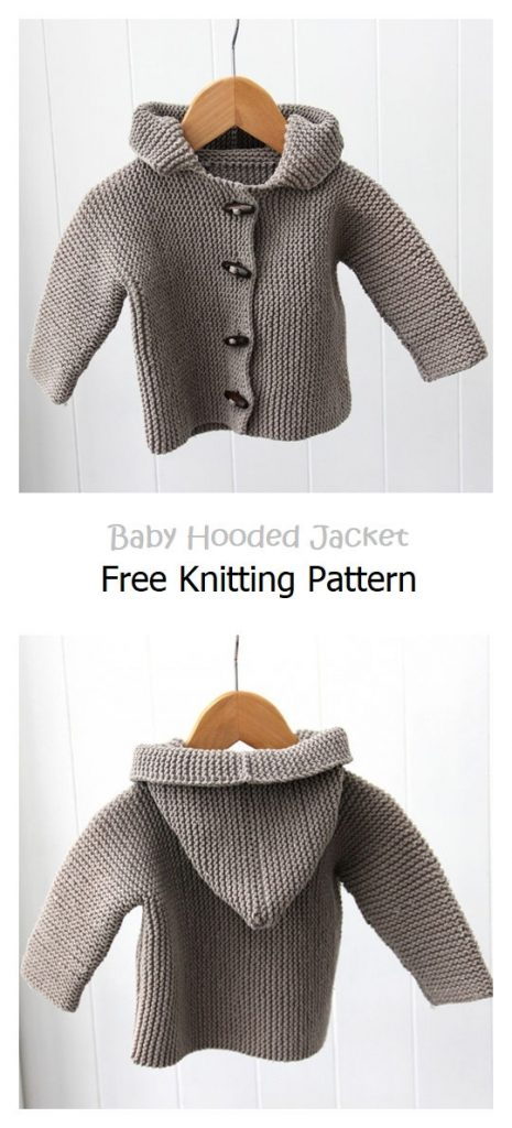 Baby Hooded Jacket Free Knitting Pattern