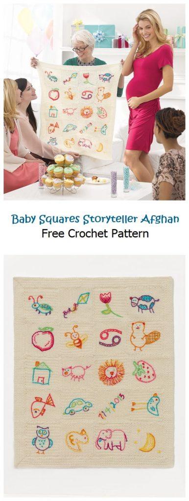 Baby Squares Storyteller Afghan Free Pattern