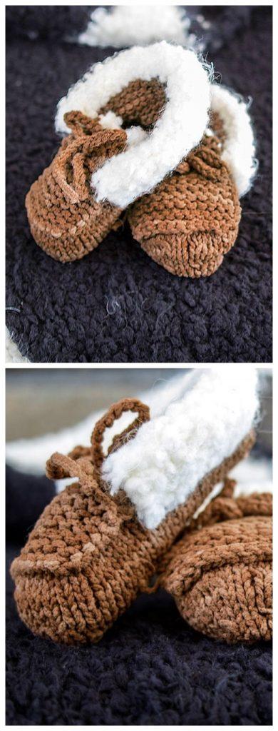 Baby Mocs Free Knitting Pattern