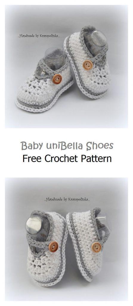 Baby uniBella Shoes Free Crochet Pattern