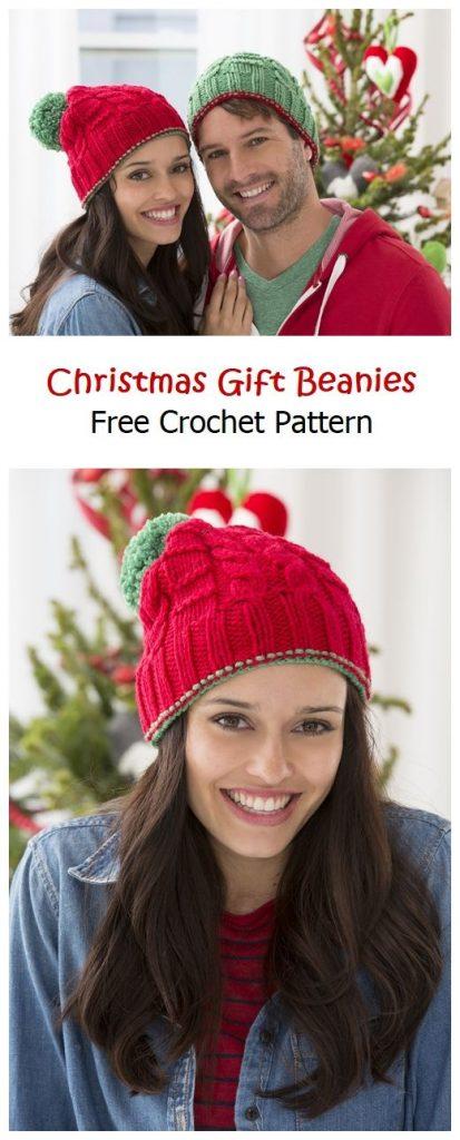 Christmas Gift Beanies Free Knitting Pattern