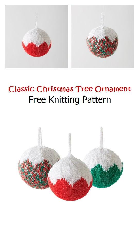 Classic Christmas Tree Ornament Free Pattern