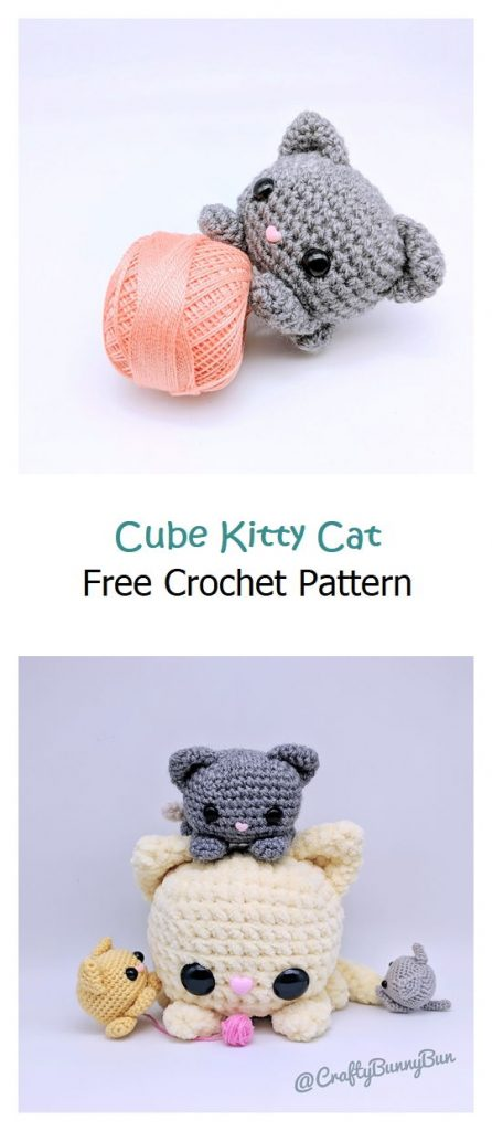 Cube Kitty Cat Free Crochet Pattern