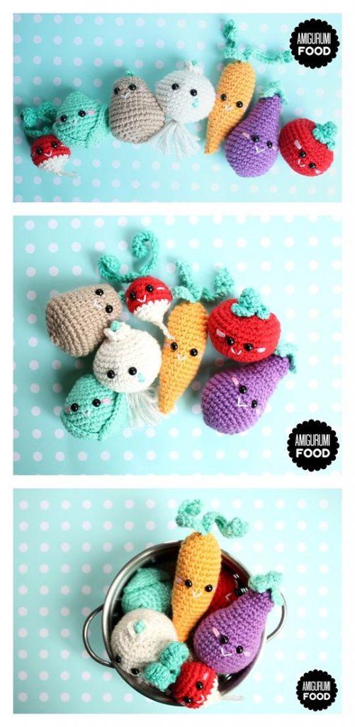 Eat Your Veggies Free Amigurumi Pattern