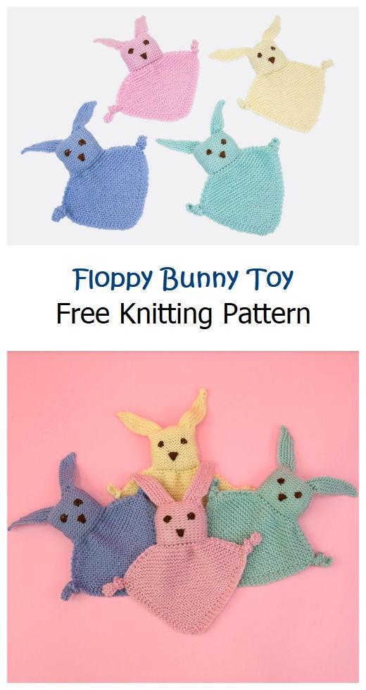 Floppy Bunny Toy Free Knitting Pattern